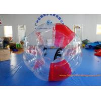 Quality Soft Handle Red Inflatable Bubble Ball , Inflatable Bumper Balls For Adults for sale