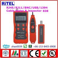 China Lan cable tester 308-locate-cable-tester RJ11, RJ45, BNC, USB for cat3,cat5/5e,cat 6 test, max 350m length test on sale