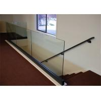 Quality Aluminum Base Shoe Glass Deck Handrail Design For Apartment Glass Railing System for sale