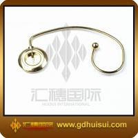 Quality round gold plating metal bag hanger for sale