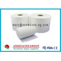Quality Food Services Spunlace Nonwoven Fabrics High Saturation Rate Embossed for sale