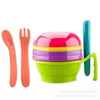Quality Reusable Kids Plate And Bowl Set , Durable Smooth Cutlery And Crockery Sets for sale