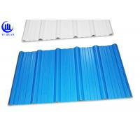 Quality Trapezoidal Wave Type PVC Plastic Roofing Sheets 3 Layer Heat Insulated for sale