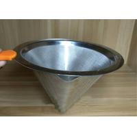 Quality Professional Ceramic Stainless Steel Filter Cup Custom Hole Pattern And Size for sale