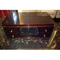 Quality Rectangle Hotel Coffee Table Classical Style High Gloss Ebony Wood Veneer Material for sale