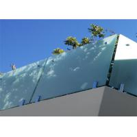China Easy Installation Frameless Glass Deck Railing With Base Channel Fixing Details on sale