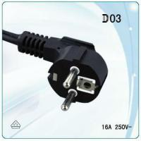 European VDE power cord with molded plug and stripped and tinned end for sale