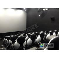 Quality Customize Seats 5D Theater System Leather And Fiberglass Material for sale