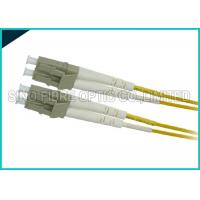 Quality Yellow 3.0mm Fiber Optic LC to LC Zipcord Singlemode SMF Patch Lead Assembly for sale
