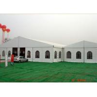 China Ridge Aluminum Frame Tent 15 Meter Width Clear Span With Sidewall Curtain on sale
