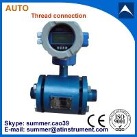 China Thread connection type magnetic flow meter uesd for water/waste water/sewage/bottled water on sale