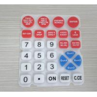 Quality Eco friendly Waterproof Soft Silicone Rubber Keypad With Numeric , Remote Control Keypad for sale