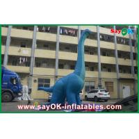 Quality 10m Blue Large Inflatable Dinosaur PVC Waterproof Blow Up Cartoon Characters Dragon for sale