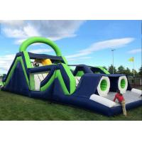 Quality Giant Kids 5 In 1 Inflatable Obstacle Courses Climbing Tunnels And Slide Combo for sale