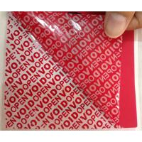Quality PET Film Material Self Adhesive Security Labels Red Security Tape for sale