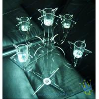 Quality CH (37) tall Acrylic pillar candle holders for sale