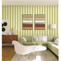 Buy 70cm width fireproof waterproof mould proof stripe styles PVC vinyl wallpaper at wholesale prices