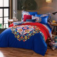 Quality Cotton Hotel Collection 6 Piece Bedding Comforter Sets Embroidered Flower Queen Size for sale