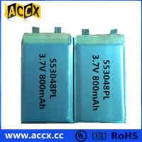 Quality 553048PL 3.7V 800mAh  Mini speaker and GPS rechargeable battery for sale