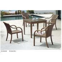 Quality modern pe rattan boite dining table chair outdoor furniture set for sale