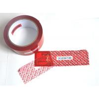 Quality Digital Russia Red Security Tape Provides Maximum Security With Perforation for sale