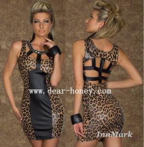 China Leopard Dress Clubwear Party Dresses MX-2427 on sale