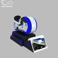 Quality 1 Person Online Race 9D VR Motorcycle Car Driving Simulator Black Or White Color for sale