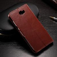 Quality Flexible Huawei Y6 Leather Case , Anti - Slip Crazy Horse Leather Wallet Case for sale
