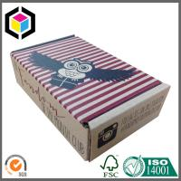 Quality Single Wall Corrugated Cardboard Shipping Box; Custom Color Print Mailing Box for sale
