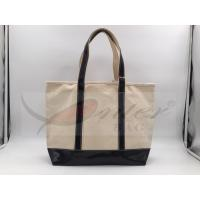 Buy Beige Canvas Washable Tote Bag , Personalized Canvas Tote Bags 32*29.5*13.5 Cm at wholesale prices