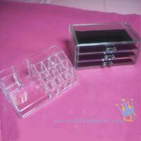 Quality acrylic drawers cosmetic organizer for sale