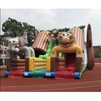 Quality Giant Outdoor Inflatable Forest Animal Dry Slide Huge Inflatable Monkey Elephant Dry Slide For Commercial Sale for sale