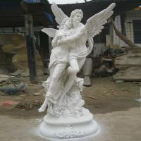 China woman human lady stone statues hand carved sculptures outdoor marble statues decorations beige statues on sale