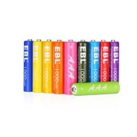 Quality Rainbow 1000mAh Rechargeable Cell Batteries Pack 1200 Cycles with Battery Case for sale