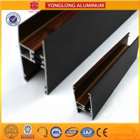 Quality Customized Hollow Wood Finish Aluminum Window Frame Extrusions for sale