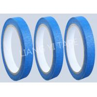 China Blue Heat Resistance Paper Masking Tape For Masking Surface During Painting on sale