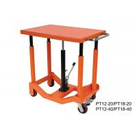 Quality Foot Pump Hydraulic Post Table Post Lift Table 910Kg 2000 Lb Load Capacity for sale