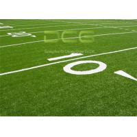 Quality Smooth Beautiful Realistic Artificial Grass Turf Soccer Field Olive Shape for sale