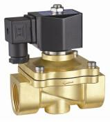 China 24VDC Brass Electric Water Solenoid Valve 2 Way Zero Differential Pressure on sale