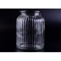 Quality Clear Tall Soy Glass Bottle Candle Holders / 1000ml Glass Candlestick Holders for sale