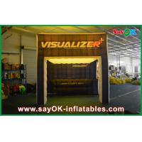Quality Costomized Led Inflatable Cube Tent For Exhibition With Groove for sale
