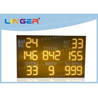 Quality Easy Installation LED Cricket Scoreboard Amber Digit Color 110V ~ 240V Input Power for sale