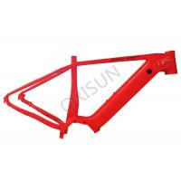 China Red Aluminum Electric Bike Frame Disc Brake With Built - In Battery on sale