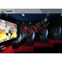 Quality Red Motion Chairs 5D Theater System , 5D Cinema Simulator For Shopping Mall for sale