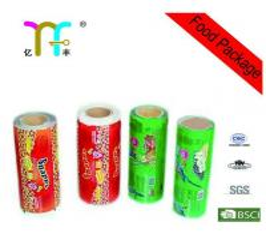 Quality Moisture Barrier Color Biscuit PET / PE Plastic Food Packaging Films for sale