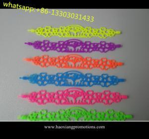 Quality Tatto silicone bracelet wristband hollow siliocne band bracelet 2015 new fashion style for sale