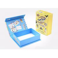 China Pretty Cardboard Shirt Boxes , Magnetic Flip Top Box With Flocking Plastic Blister on sale