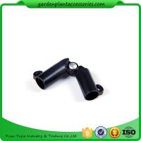 Quality Sturdy Plastic Garden Stake Connectors Black Color Adjustable Angle 0 - 170 Degrees for sale