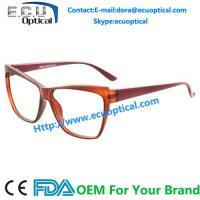 Cat eye Optical Eyeglasses for men Acetate temple with Flex CE FDA for sale