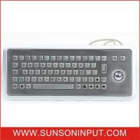 Buy Information Kiosks Stainless Steel Keyboard With Trackball Custom Made at wholesale prices